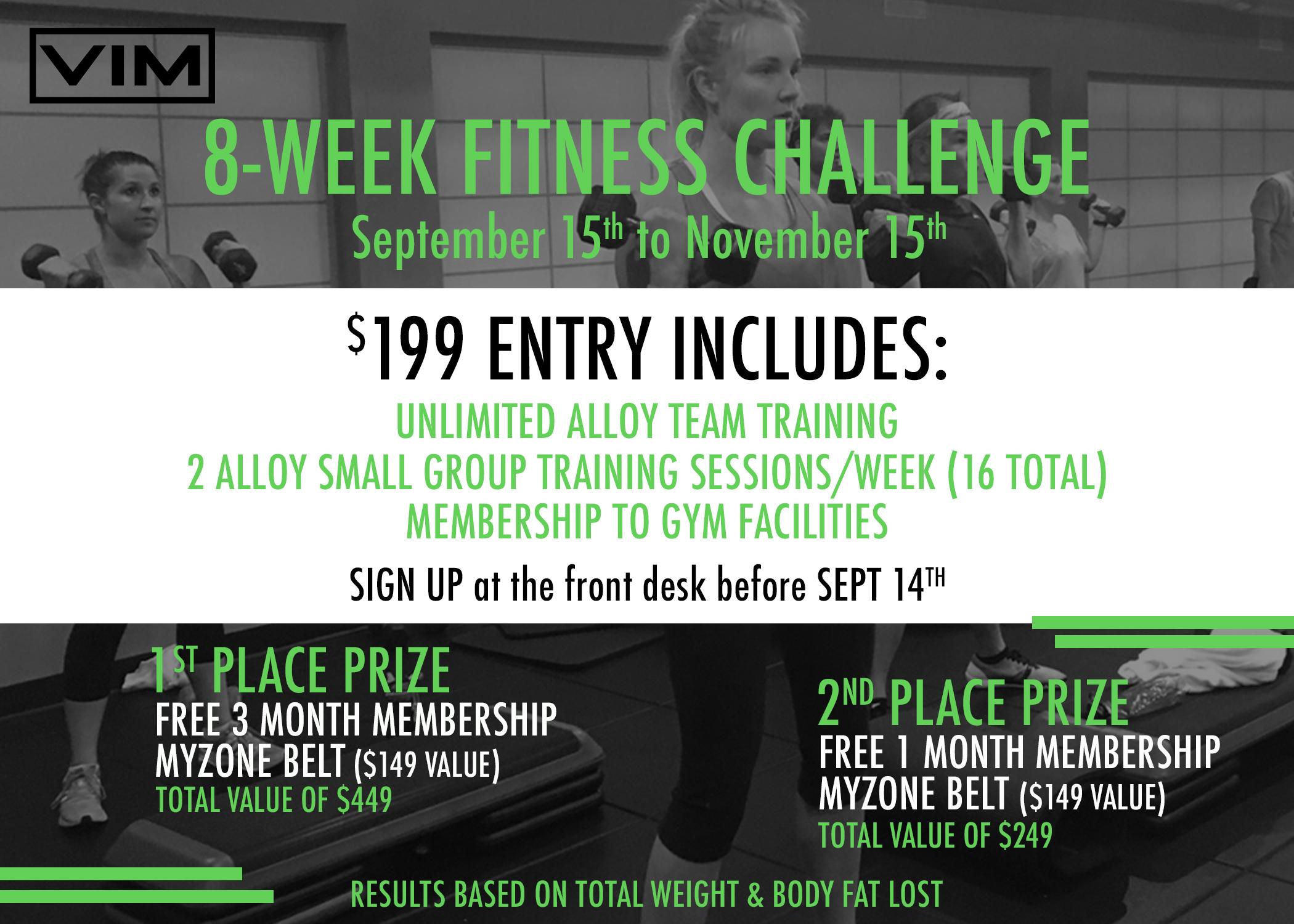 8 WEEK FITNESS CHALLENGE! - VIM | Fitness