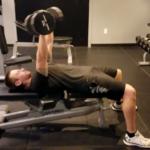 dumbbell chest press