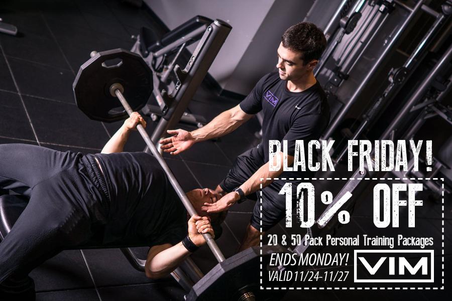 black friday personal training