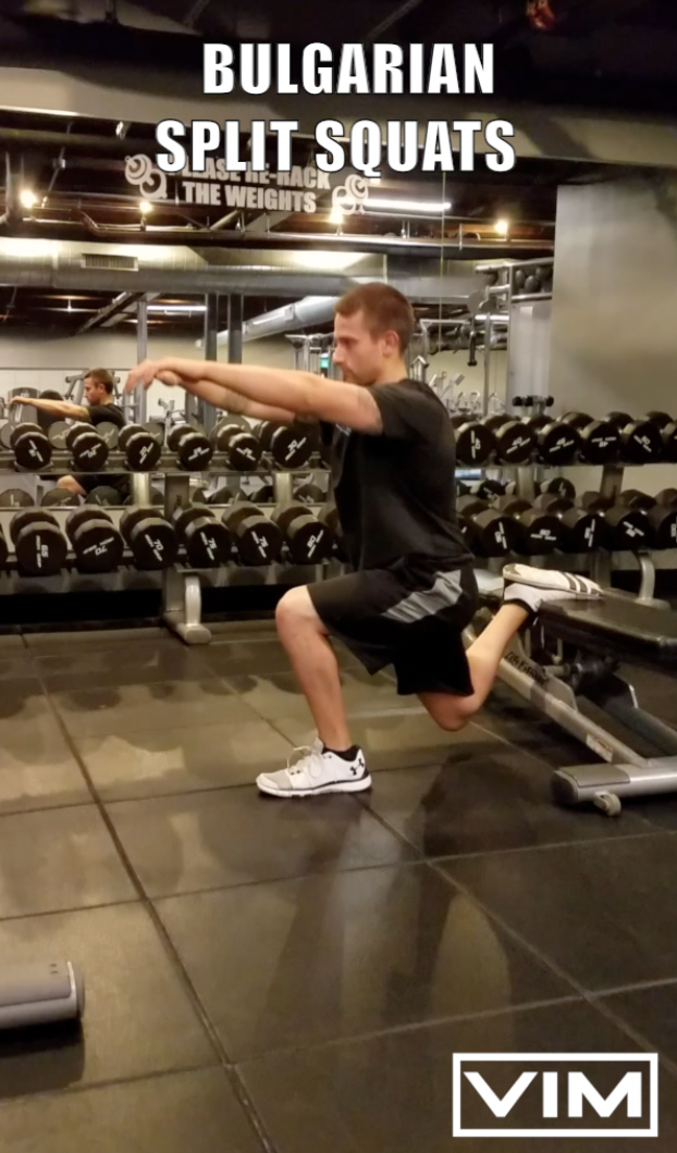 Bulgarian split squats