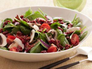 omega-3d spinach salad