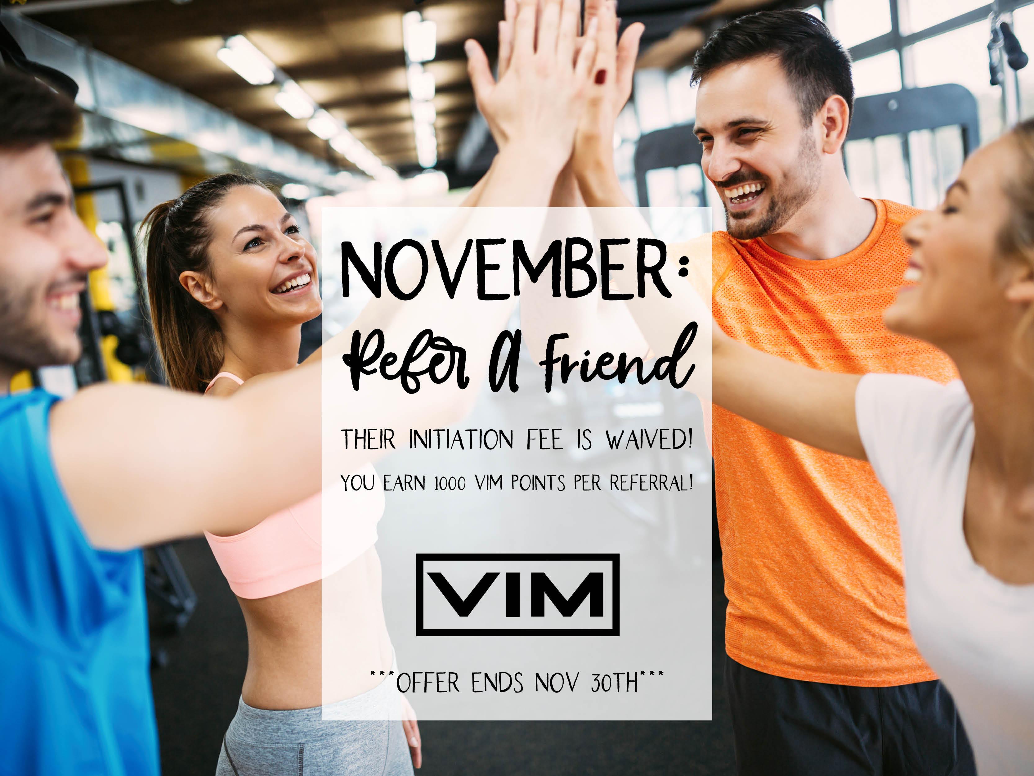 November Refer A Friend Bonus