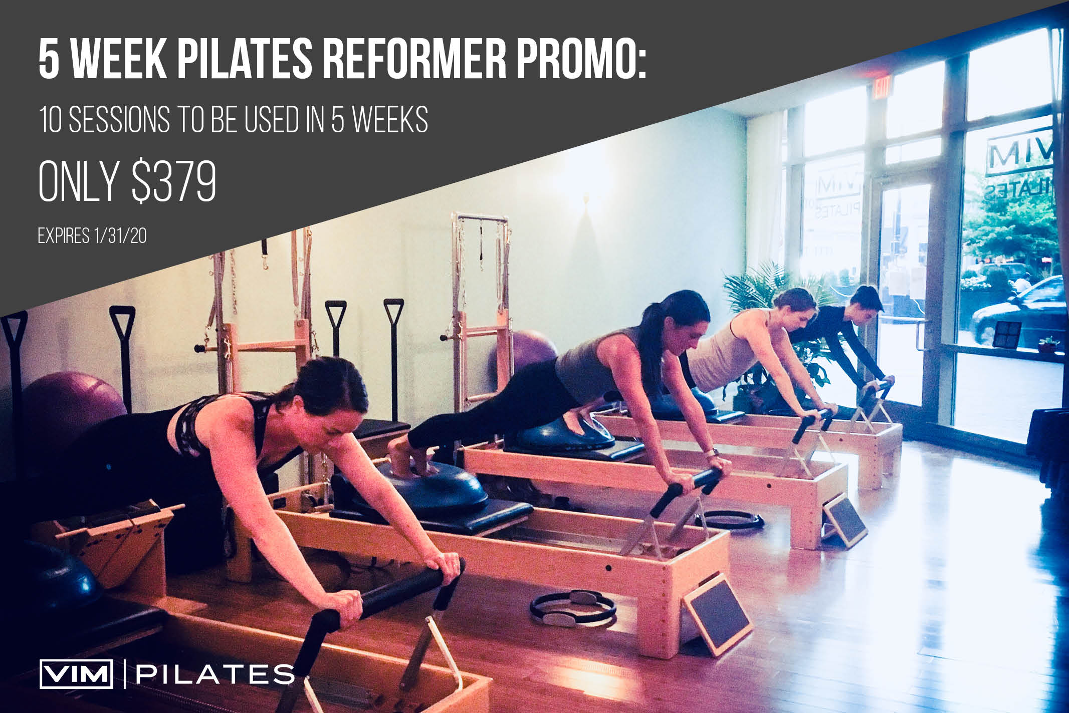 5 week Pilates reformer promo